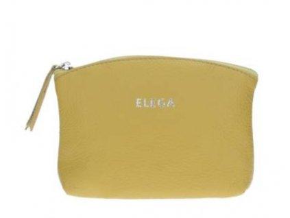 Kožená kosmetická etue Elega - žlutá