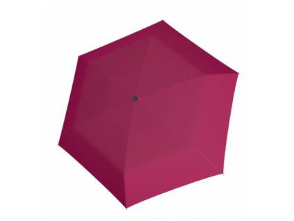 Deštní Doppler placatý carbonsteel slim - růžový