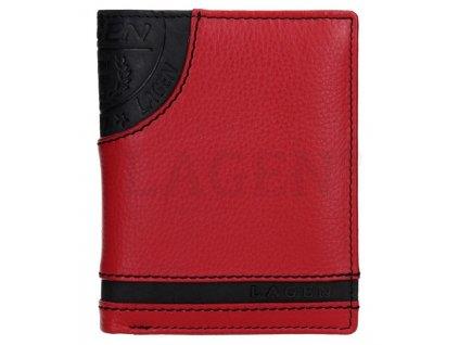 Kožená peněženka s ražbou Lagen - červenočerná