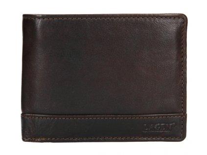 Kožená pánská peněženka Lagen - tmavě hnědá