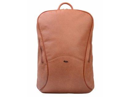 Vysoký batoh Hajn broušená kůže - písková