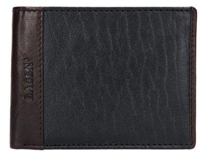 Pánská kožená peněženka Lagen - černo hnědá