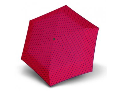 Plochý deštník Hit Mini Flat - růžový puntík