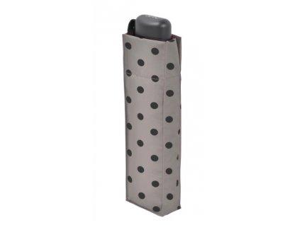 Plochý deštník Hit Mini Flat - béžový puntík