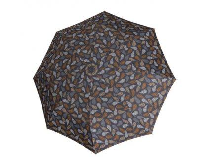 Deštník Fiber Havanna odlehčený - hnědý vzor