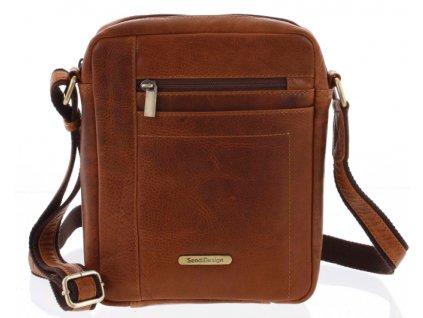 Pánská taška přes rameno Sendi Design - světle hnědá