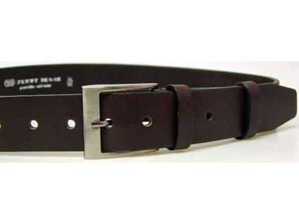 Nadměrný tmavě hnědý kožený opasek - Penny Belts