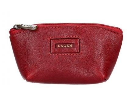 Kožená klíčenka Lagen - červená