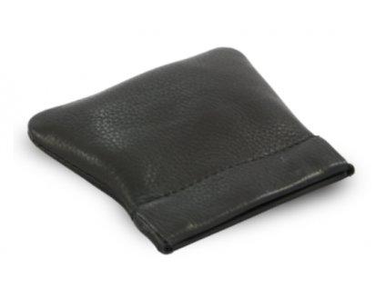 Kožené pouzdro s pružinkou na drobné - černé