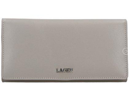Luxusní kožená peněženka Lagen - šedá