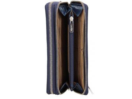 Kožená dvoupenálová peněženka Lagen - tmavě modrá