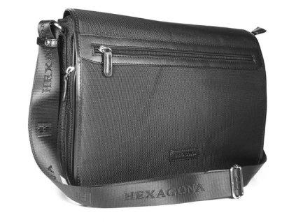 Klopnová manažerská taška Hexagona - černá