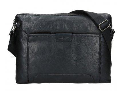 Kožená taška na notebook přes rameno Lagen - černá