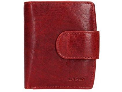 Kožená peněženka Lagen - červená matná