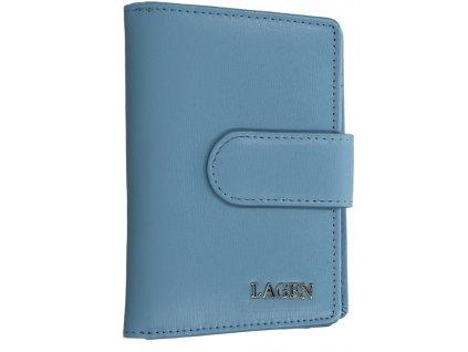 Kožená peněženka Lagen -světle modrá