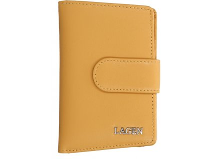 Kožená peněženka Lagen - žlutá