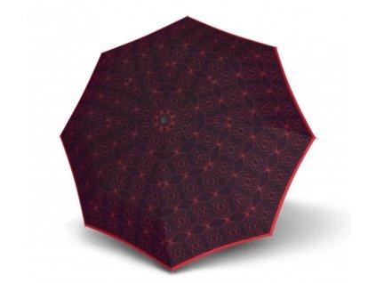 Deštník Doppler Carbonsteel Slim placatý - červený vzor
