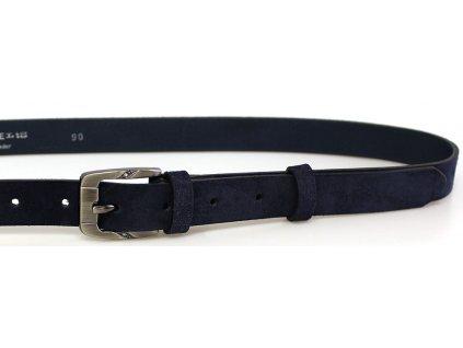 Modrý semišový dámský opasek - Penny Belts