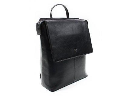 Městský kožený batoh Arwel - černý