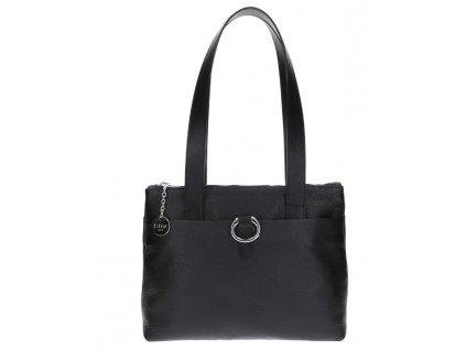 Malá shopper Alisa černá/stříbro