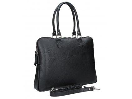 Dámská kožená kabelka FACEBAG GAYA - Černá