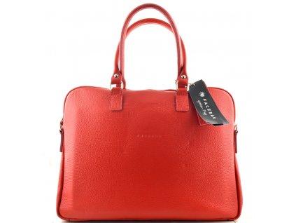 Dámská kožená kabelka FACEBAG GAYA - Červená