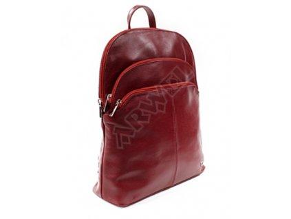 Kožený batoh Arwel - vínový