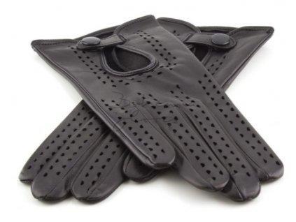 Dámské kožené řidičské rukavice Bohemia gloves - černé