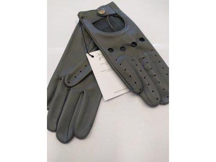 Dámské kožené řidičské rukavice Bohemia gloves - šedé