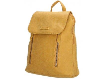 Koženkový batoh Enrico Benetti - žlutý