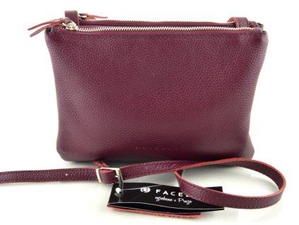 Dámská kožená kabelka FACEBAG ALLY - fialová