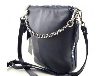 Malá elegantní kabelka FACEBAG - tmavě modrá