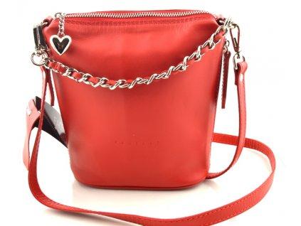 Malá elegantní kabelka FACEBAG - červená