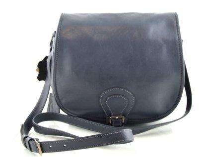 Klopnová lovecká kožená taška Silvercase - tmavě šedá