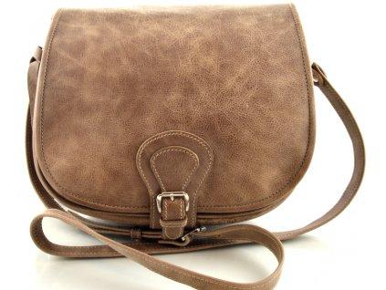 Klopnová lovecká kožená taška Silvercase - oříšek