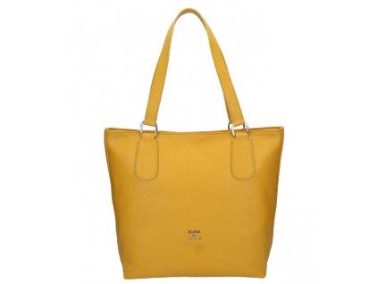 Kožená taška na rameno Elega by Dana M. Manon žlutá