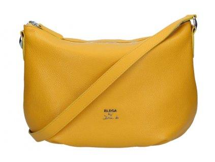 Kožená Gondola Elega by Dana M. Manon žlutá