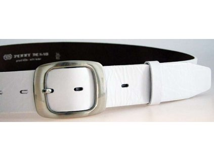 Bílý kožený dámský opasek - Penny Belts