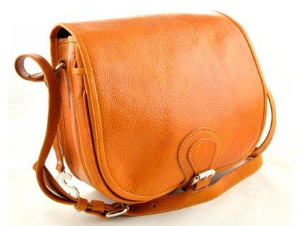 Klopnová lovecká kožená taška Silvercase -žlutooranžová