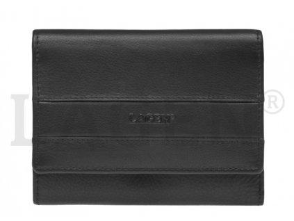 Černá dámská kožená peněženka Lagen