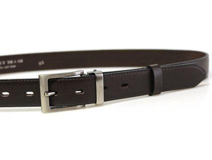 Tmavě hnědý kožený opasek - Penny Belts