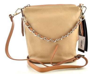 Malá elegantní kabelka FACEBAG - písková