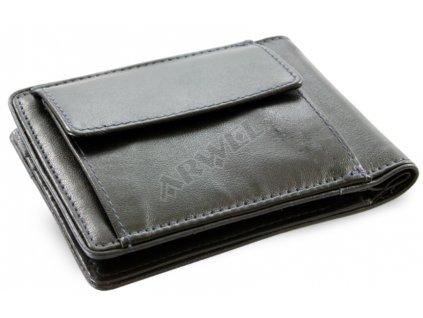 Kožená dolarovka  Arwel - černo modrá