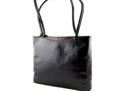Elegantní kožená kabelka Silvercase - černo hnědá