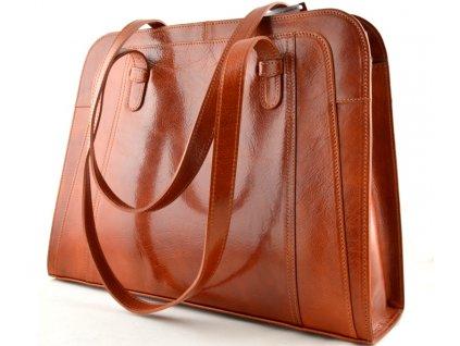 Velká manažerská kožená kabelka Silvercase - oranžová