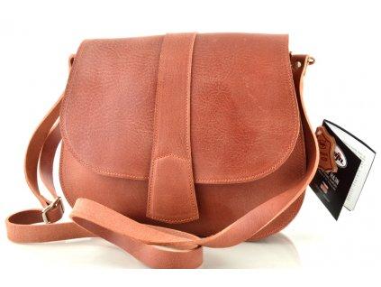 Lovecká kožená taška Hajn - červená