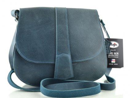 Lovecká kožená taška Hajn - modrá