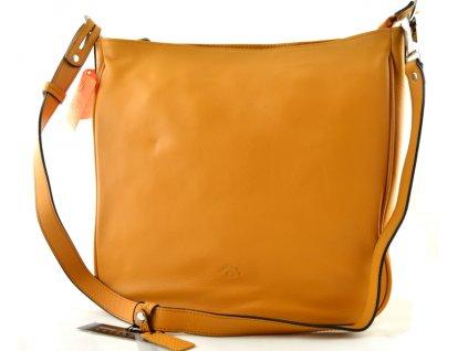 Kožená taška crossbody Katana - žlutá