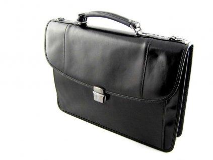 Luxusní dámská aktovka Silvercase - černá