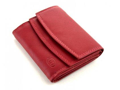 Malá kožená peněženka DD - červená